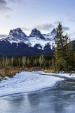 DSC6680-Winter-sunrise-on-Policemans-Creek-Canmore-Alberta-scaled
