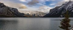 Lake Minnewanka Winter Panorama #2