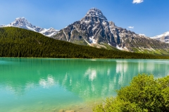Mount Chephren, Upper Waterfowl Lake, Icefields Parkway, Banff National Park, Alberta, Canada,