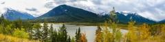 Vermilion-Lakes Panorama