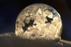 D758771-Frozen-Soap-Bubble-at-Sunset