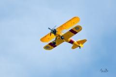 D8504142-Bi-Plane-Flying-Overhead